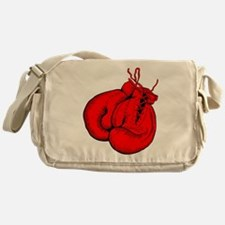 Red Boxing Gloves Messenger Bag