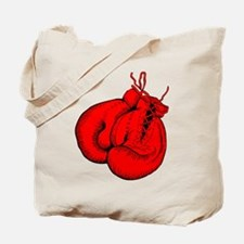 Red Boxing Gloves Tote Bag