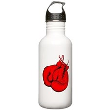 Red Boxing Gloves Sports Water Bottle