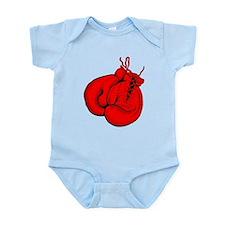 Red Boxing Gloves Infant Bodysuit