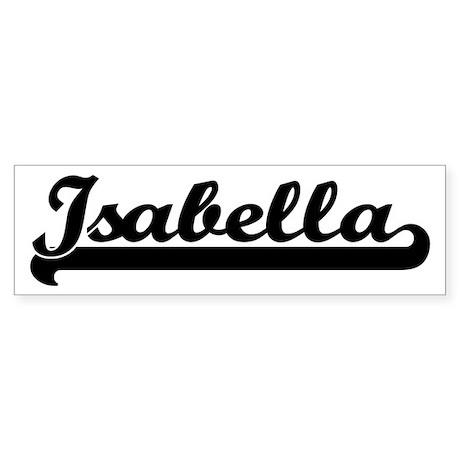 Black jersey: Isabella Bumper Sticker
