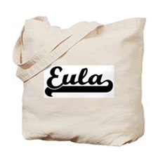 Black jersey: Eula Tote Bag