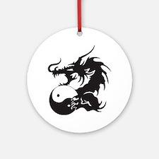 Yin Yang Dragon Ornament (Round)