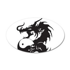 Yin Yang Dragon Wall Sticker
