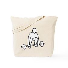 Lifting Weights Tote Bag