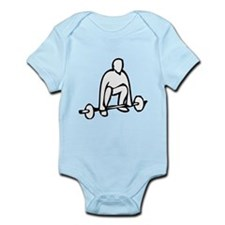 Lifting Weights Infant Bodysuit