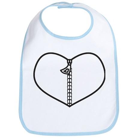 Zipper Heart Bib