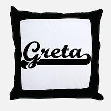 Black jersey: Greta Throw Pillow