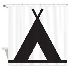 Tent Shower Curtain