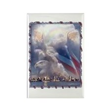 In God's Hands Rectangle Magnet