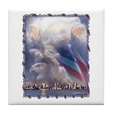 In God's Hands Tile Coaster