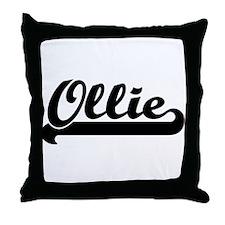 Black jersey: Ollie Throw Pillow