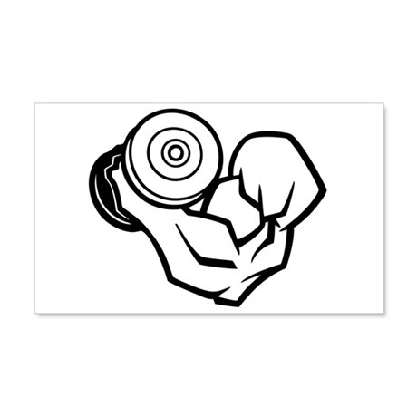 Big Muscle Curl 20x12 Wall Decal