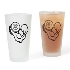 Big Muscle Curl Drinking Glass
