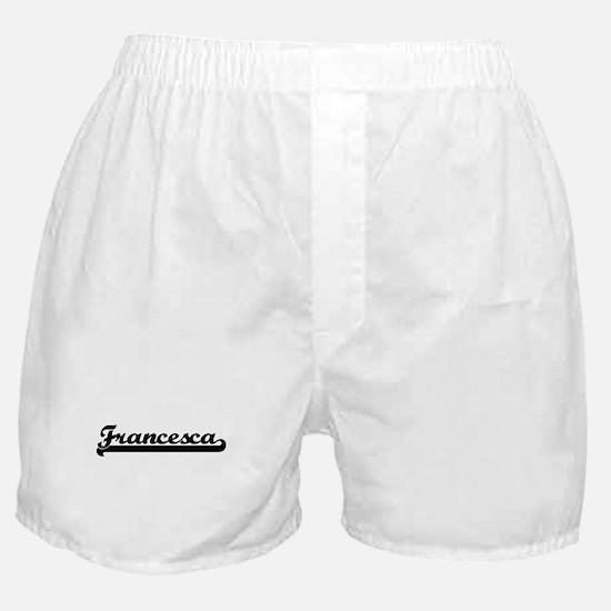 Black jersey: Francesca Boxer Shorts