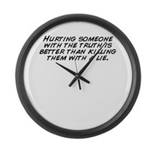 Unique The truth hurts Large Wall Clock