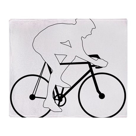 Cycling Silhouette Throw Blanket