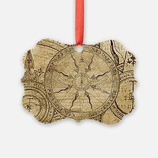 Vintage Compass Rose Collage Ornament