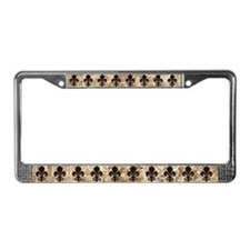 Clockwork Fleur De Lis License Plate Frame