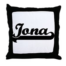 Black jersey: Iona Throw Pillow