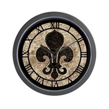 Clockwork Fleur De Lis Wall Clock
