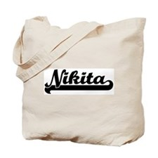 Black jersey: Nikita Tote Bag