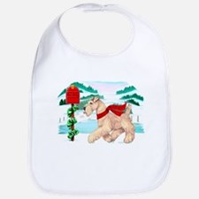 Wheaten Terrier Christmas Cotton Baby Bib