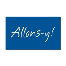 French Allons-y Rectangle Car Magnet
