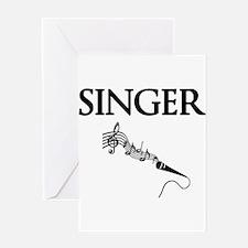 Singer Greeting Card