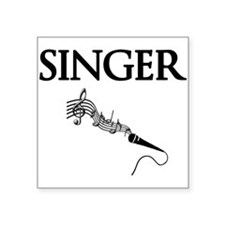 "Singer Square Sticker 3"" x 3"""