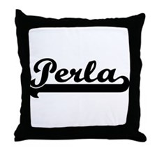 Black jersey: Perla Throw Pillow