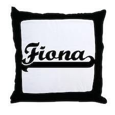 Black jersey: Fiona Throw Pillow
