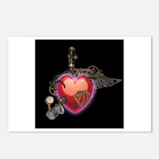 Steampunk Heart Postcards (Package of 8)