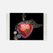 Steampunk Heart Rectangle Magnet