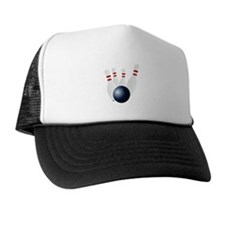 Bowling Pins Knocked Down Trucker Hat