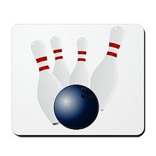 Bowling Pins Knocked Down Mousepad
