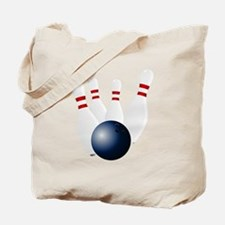 Bowling Pins Knocked Down Tote Bag