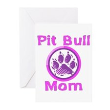 Pit Bull Mom Greeting Cards (Pk of 20)
