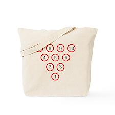 Bowling Pin Diagram Tote Bag