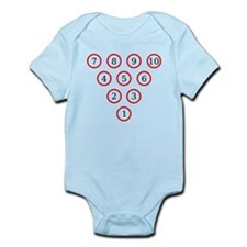 Bowling Pin Diagram Infant Bodysuit