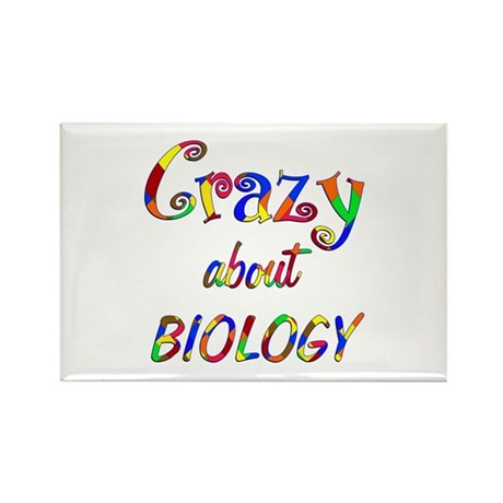 Crazy About Biology Rectangle Magnet (10 pack)