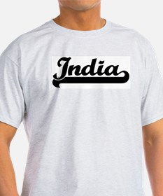 Black jersey: India Ash Grey T-Shirt