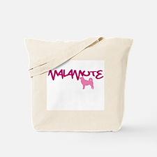 """Alaskan Malamute """"Pink"""" Tote Bag"""