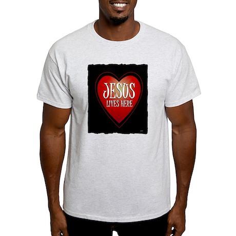 jesus lives here art illustration Light T-Shirt