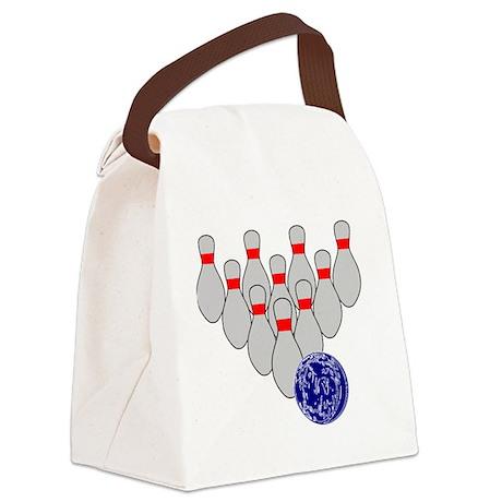 Duckpin Bowling Canvas Lunch Bag