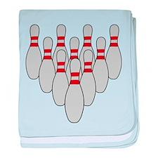 Ten Pin Bowling baby blanket