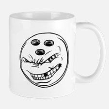 Cartoon Bowling Ball Face Mug