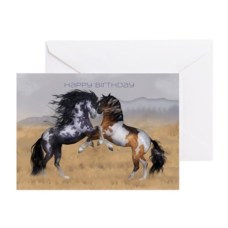 Wild Horses Birthday Greeting Card (Pk of 20)
