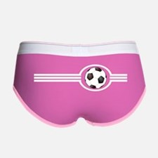Soccer Ball And Stripes Women's Boy Brief