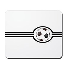 Soccer Ball And Stripes Mousepad